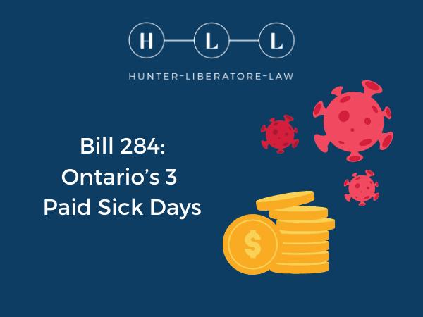 Bill 284 Sick Days