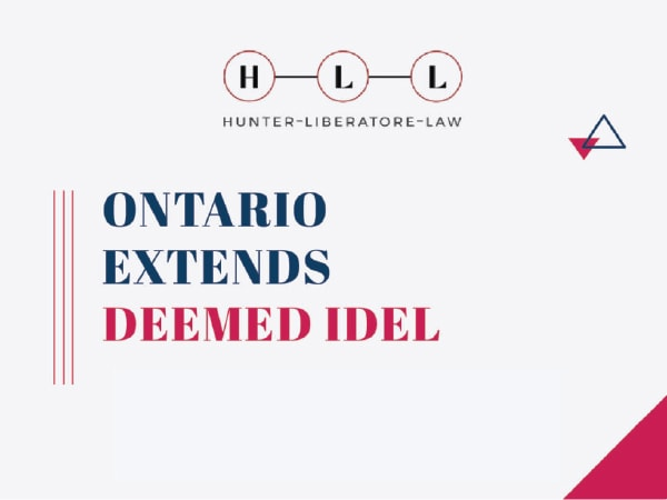 ONTARIO EXTENDS DEEMED IDEL